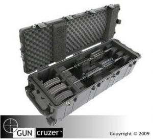 Rifle carrying case with o-ring seal