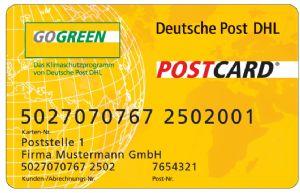 BioSourced Gogreen Payment Card For Deutsche Post DHL
