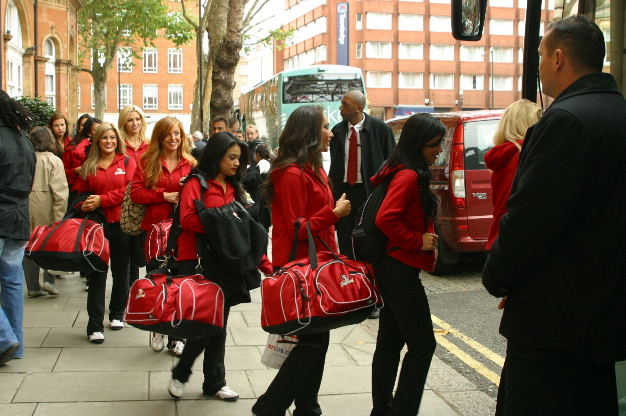 ISC Provides Close Protection For Cheerleaders Visiting The UK