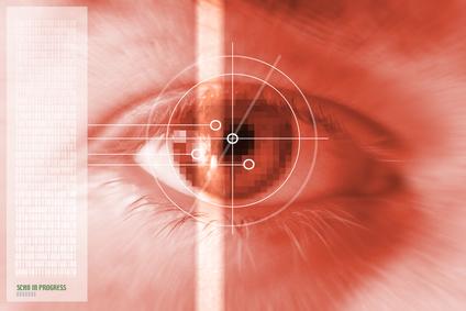 Biometric iris authentication for smartphones