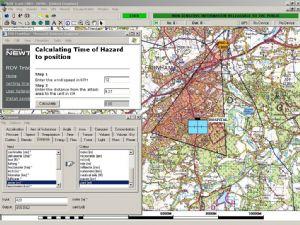 Hazard prediction software aids remote ordnance disposal.