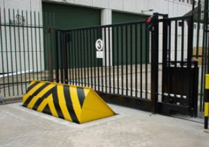 Road blockers for preventing vehicle intrusion