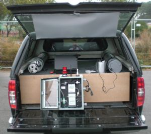 Radiation detector easily fits into 4X4 vehicle