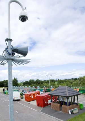 Remote management of event driven waste site protection