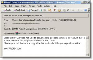 Fake e-mail delivery messages contain Trojan